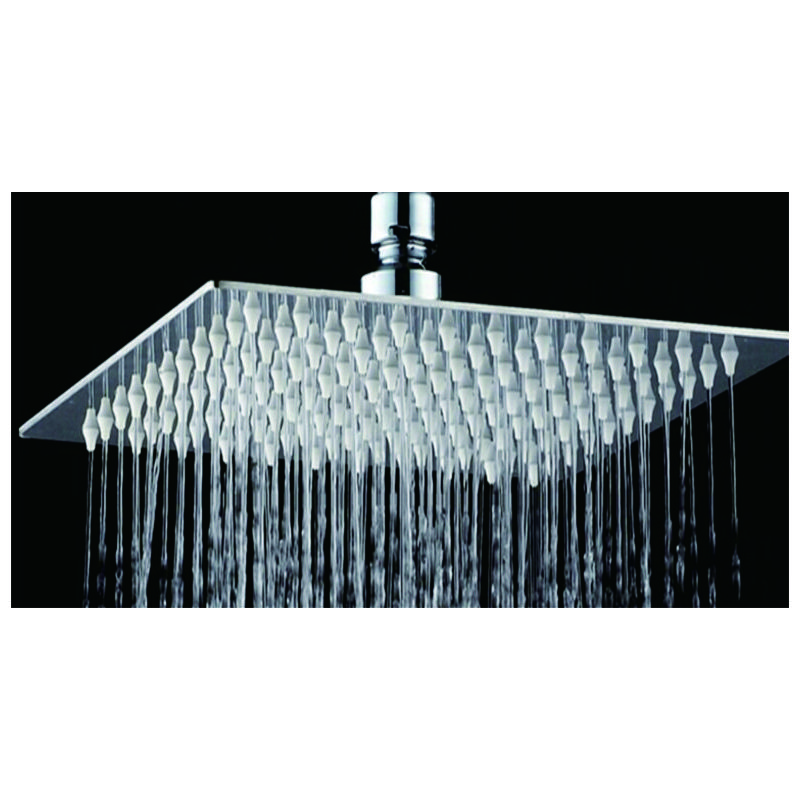 Shower Rose Square Stainless Steel